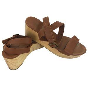 Nisolo Sarita Platform Wedge Sandals Leather, 7.5